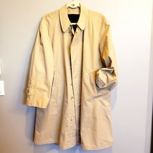 Vintage 40s mens L alpaca lined trench overcoat
